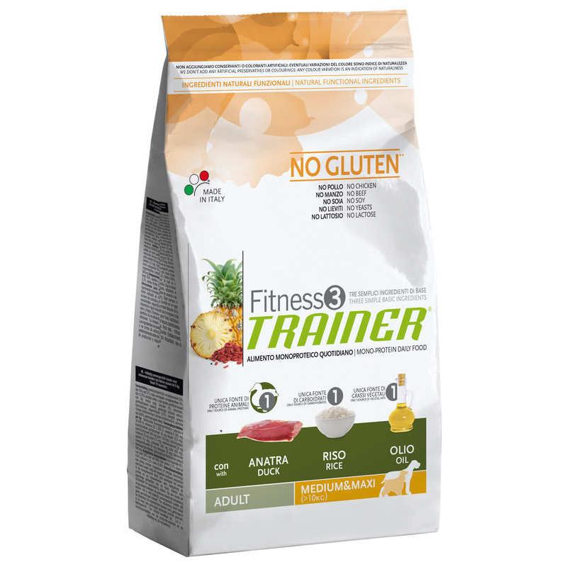Trainer (Трейнер) Fitness 3 Adult Medium/Maxi With Duck - Сухой корм для взрослых собак средних и крупных пород (утка)
