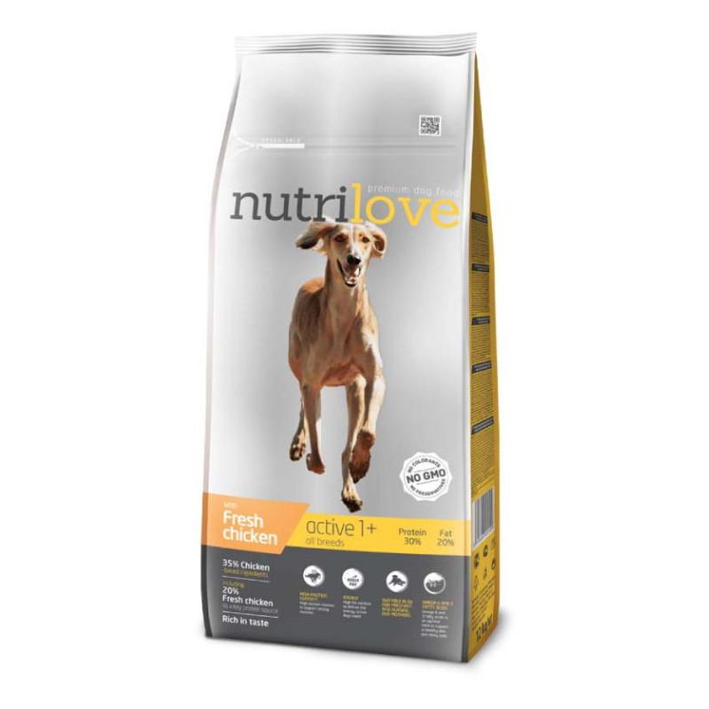 Nutrilove (Нутрилав ) Active All Breeds - Корм для взрослых собак с повышенной активностью,  с курицей и рисом