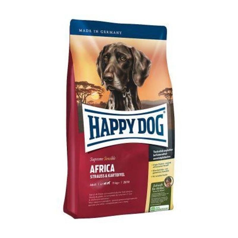 Happy Dog (Хеппи Дог) Supreme Sensible Africa - Сухой корм для взрослых собак с мясом страуса и картофелем