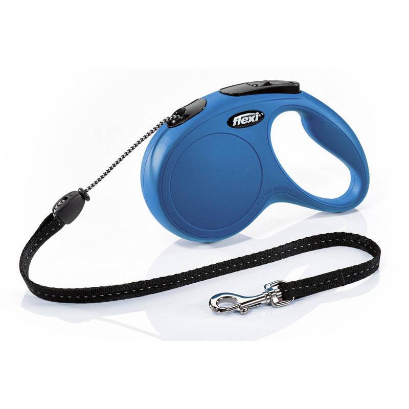 Flexi (Флекси) New Classic M - Поводок-рулетка для собак средних пород, трос (5 м, до 20 кг)