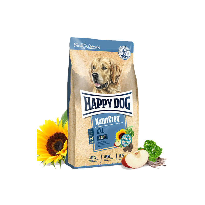 Happy Dog (Хеппи Дог) NaturCroq XXL - Сухой корм с домашней птицей для взрослых собак крупных пород