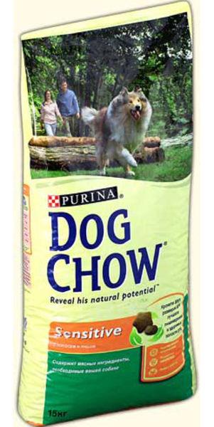 DOG CHOW (Дог чау) Sensitive Лосось с рисом