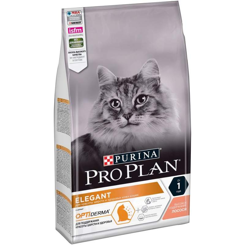 Purina Pro Plan (Пурина Про План) Elegant Adult - Сухой корм с лососем для взрослых кошек с чувствительной кожей
