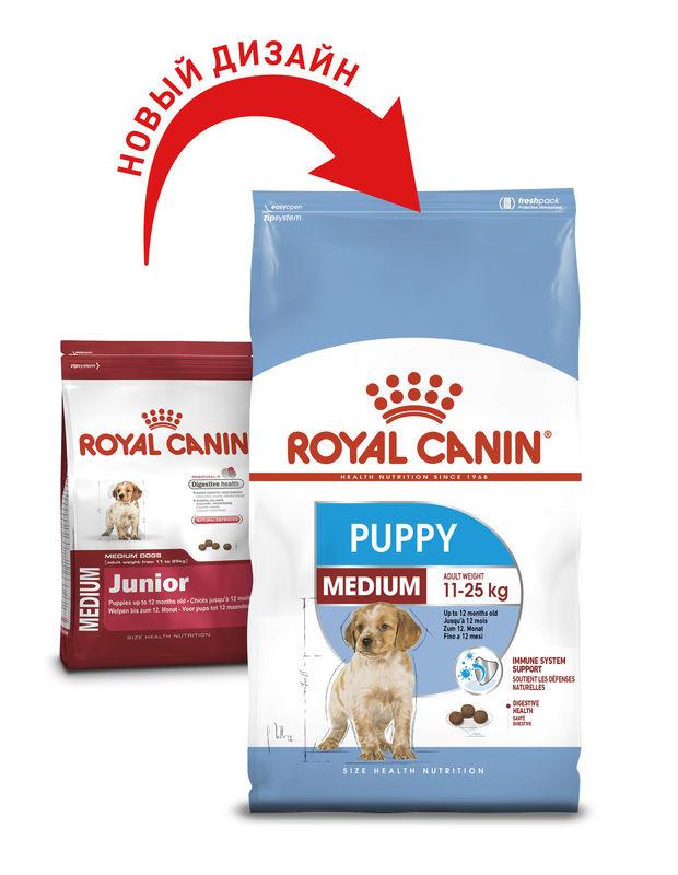 Royal Canin (Роял Канин) Medium Puppy - Сухой корм мясом птицы для щенков собак средних пород - Фото 3