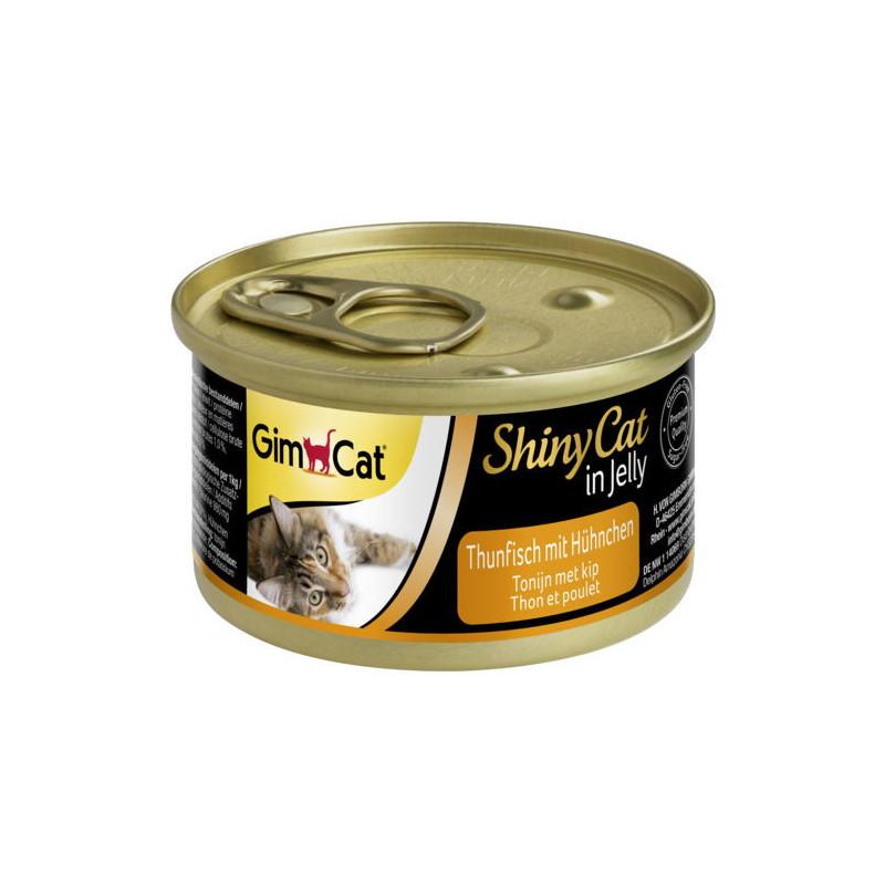 GimCat (ДжимКэт) ShinyCat - Консервированный корм с тунцом и курицей для кошек