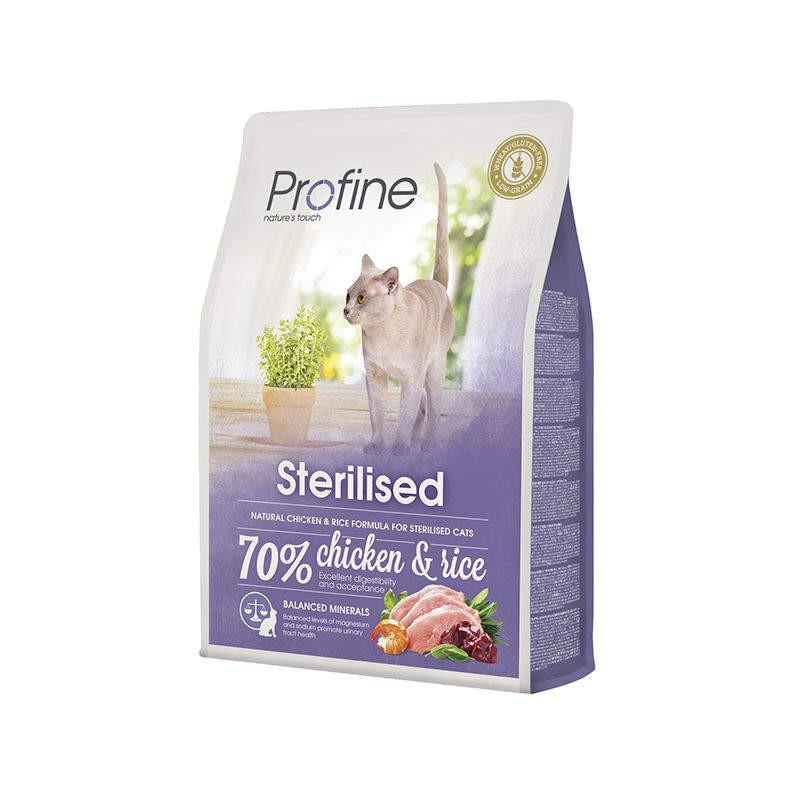 Profine (Профайн) Cat Sterilised - Сухой полноценный корм с курицей для стерилизованных котов и кошек