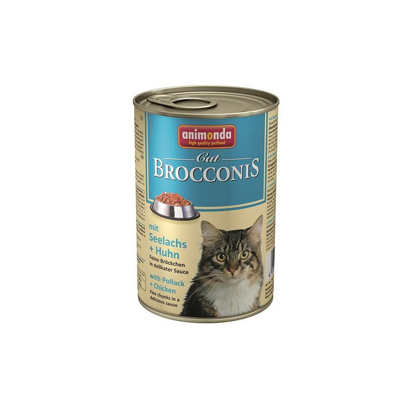 Animonda (Анимонда) Brocconis Cat - Консервированный корм с сайдой и курицей для взрослых кошек (кусочки в соусе)