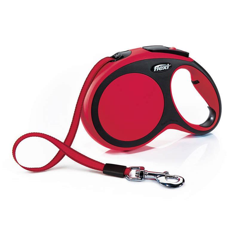 Flexi (Флекси) New Comfort Long L - Поводок-рулетка для собак крупных пород, длинная лента (8 м, до 50 кг)