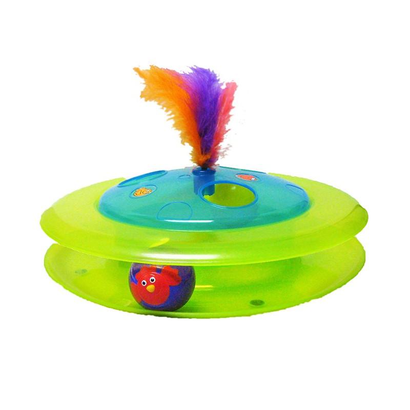 Petstages (Петстейдж) Игрушка для кошек Трек с мячом-птичкой