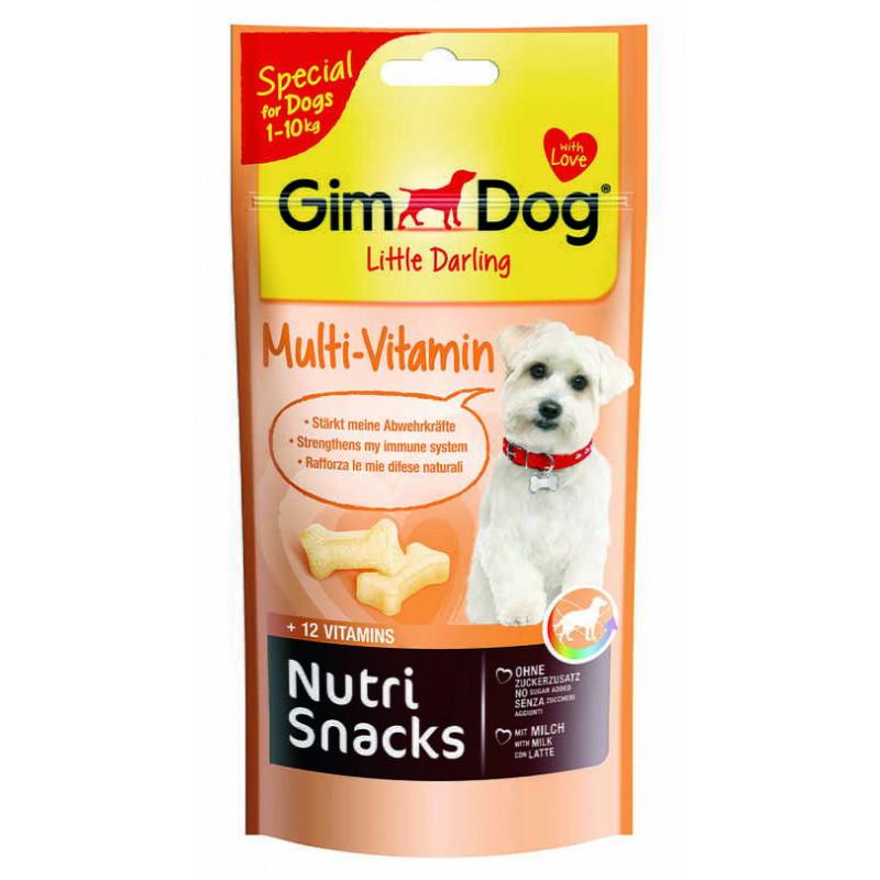 GimDog LITTLE DARLINGD Nutri Snacks Multi-Vitamin Лакомство мультивитамин для поддержания иммунитета собак мелких пород