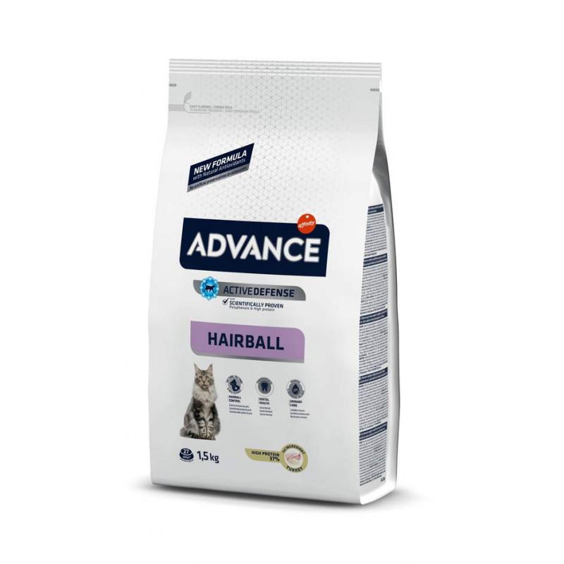 Advance (Эдванс) Cat Hairball - Сухой корм с индейкой и рисом для котов, способствует выведению комков шерсти из желудка