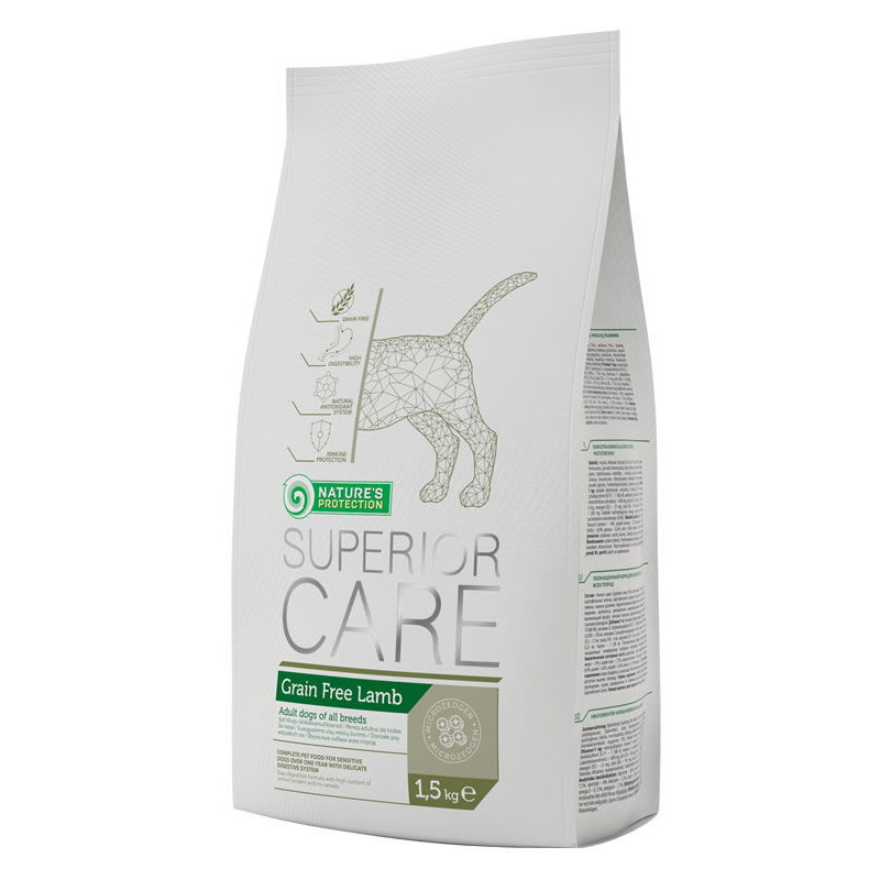 Nature's Protection Superior Care Grain Free Lamb - сухой беззерновой корм для взрослых собак c ягненком