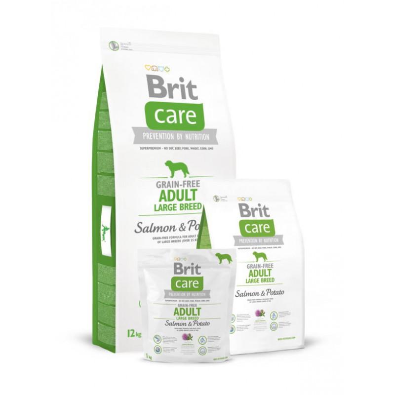 Brit Care (Брит Кеа) Adult Large Breed Salmon & Potato - Сухой корм с лососем и картофелем для взрослых собак крупных пород