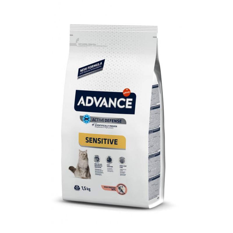 Advance (Эдванс) Cat Sensitive Salmon and Rice Корм для котов с чувствительным пищеварением, лосось с рисом