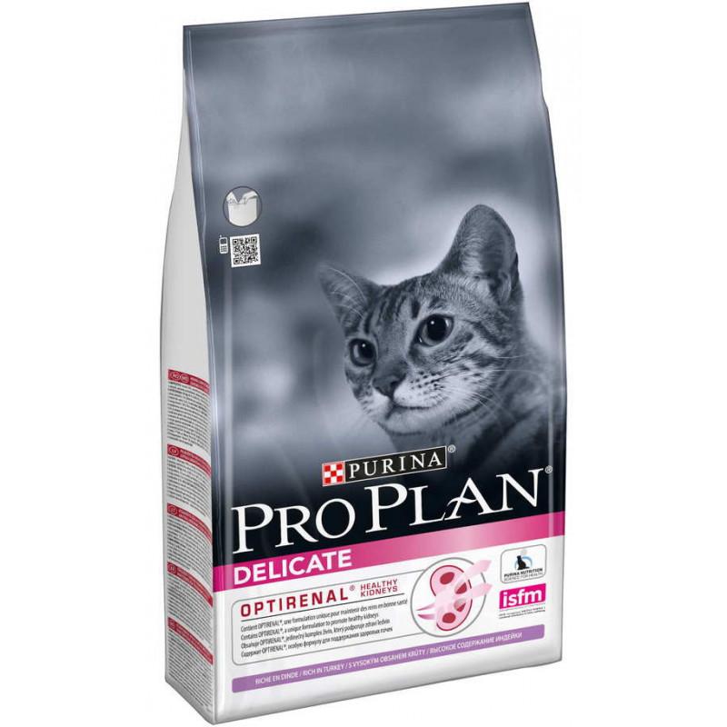 Purina Pro Plan (Пурина Про План) ) Delicate Turkey Сухой корм для кошек с чувствительным пищеварением, с индейкой
