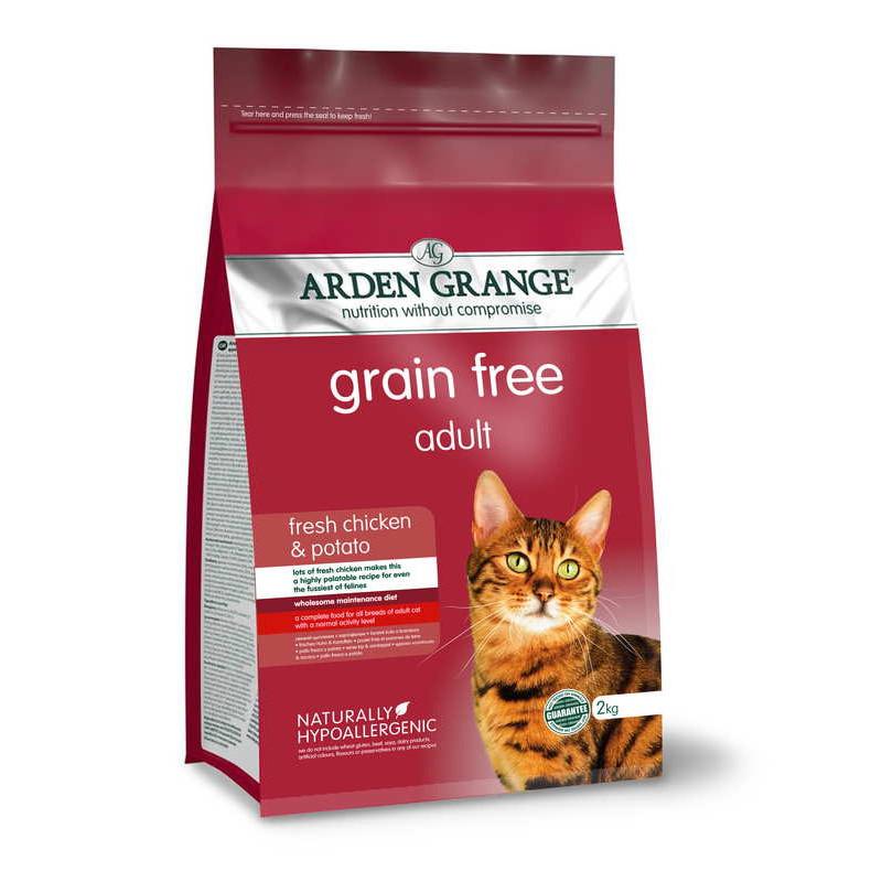 Arden Grange (Арден Грандж) Adult Cat Fresh Chicken & Potato - Сухой беззерновойкорм со свежей курицей и картофелем для взрослых кошек