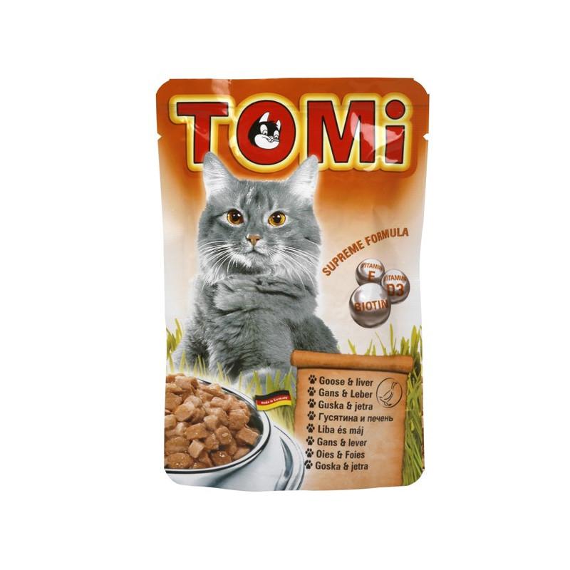 TOMi (Томи) goose & liver. Пауч с гусятиной и печенью для котов
