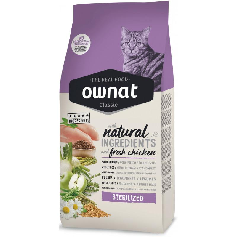 Ownat (Овнат) Classic Cat Adult Sterilized - Сухой корм с курицей для стерилизованных и кастрированных котов