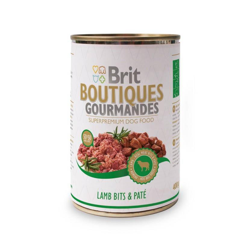 Brit (Брит) Boutiques Gourmandes Кусочки ягненка в паштете для собак
