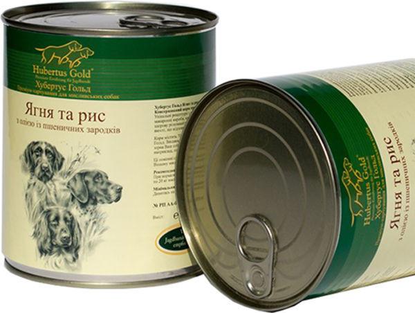 """Hubertus Gold (Хьюбертус Голд) Консервированный корм """"Ягненок и рис"""" для активных собак - Фото 2"""