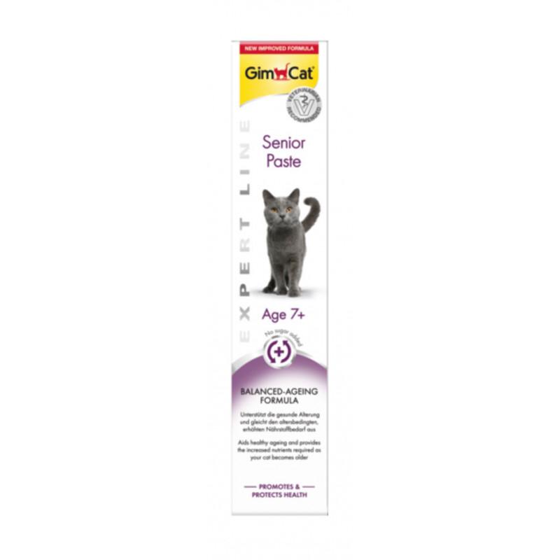 GimСat (ДжимКэт) Expert Line Senior. Паста антивозростная для котов старше 7 лет
