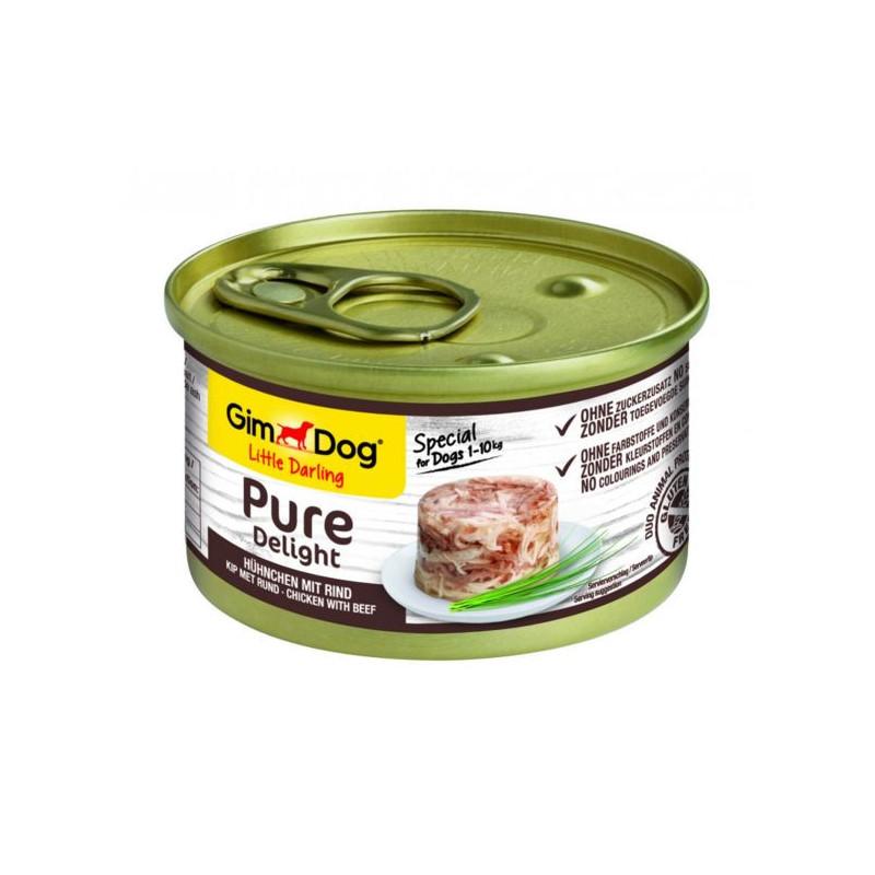 GimDog LITTLE DARLINGD Pure Delight Консервы для собак с курицей и говядиной