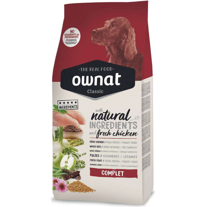 Ownat Classic Complet -  сбалансированный корм на основе куриного мяса, для собак