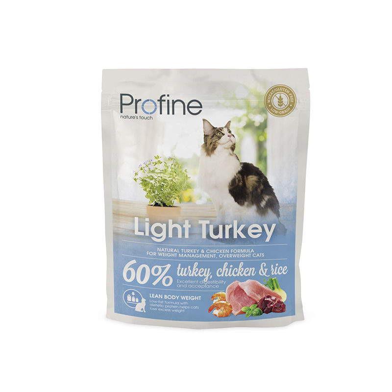 Profine (Профайн) Cat Light - Сухой корм с индейкой для контроля веса котов и кошек