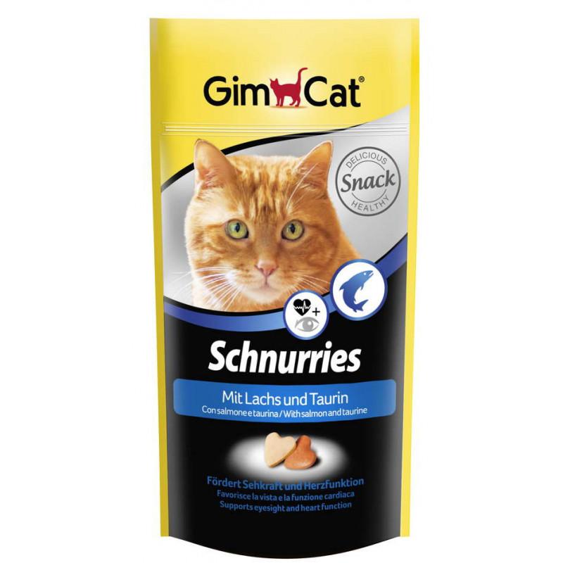 Gimcat (ДжимКэт) Schnurries - Витаминные сердечки для кошек с таурином и лососем