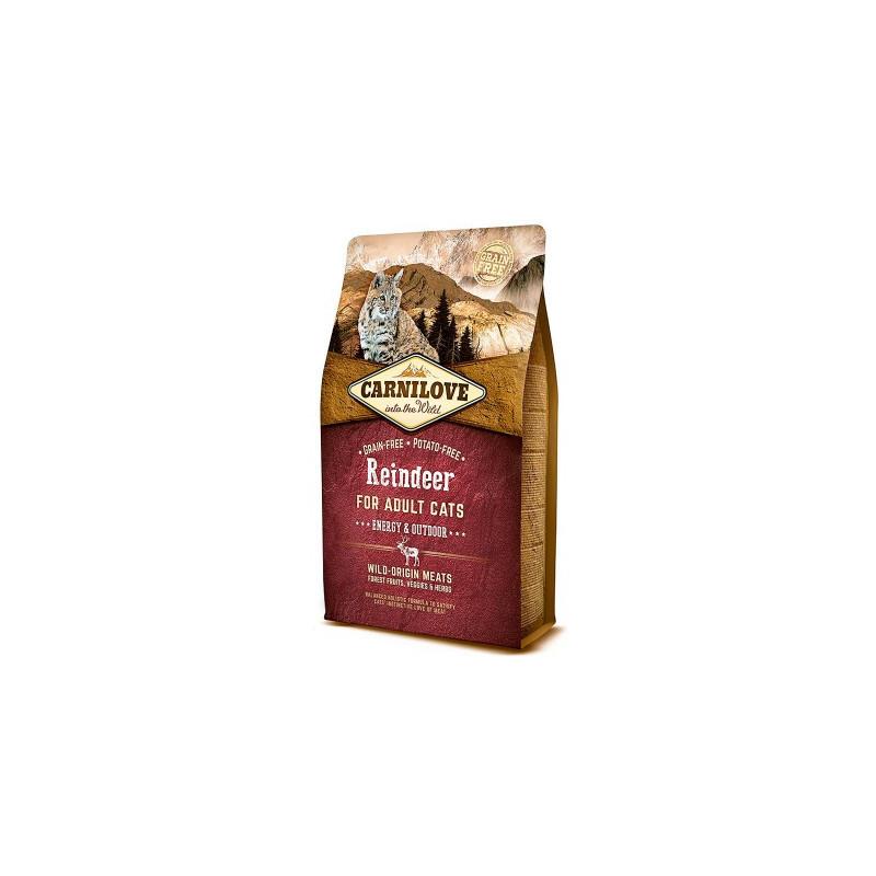 Carnilove (Карнилав) Reindeer for Adult Cats Energy & Outdoors - Сухой корм с олениной для взрослых активных котов