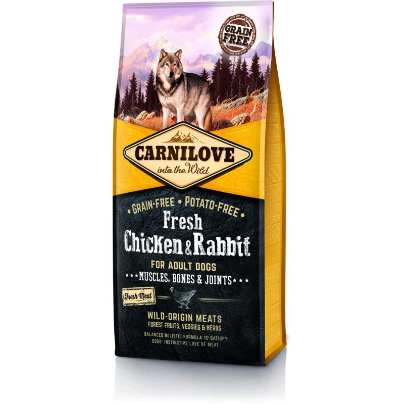 Carnilove Dog Fresh Adult Chicken & Rabbit - беззерновой корм для взрослых собак, с курицей и кроликом