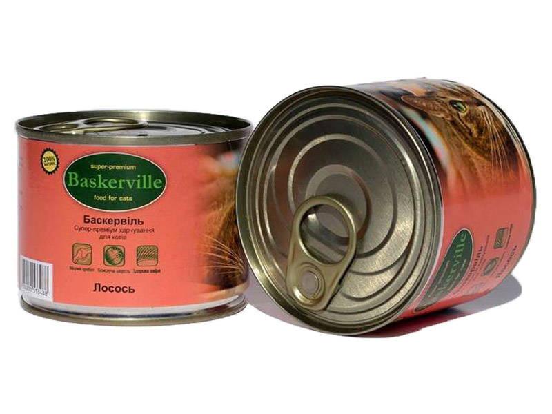 Baskerville (Баскервиль). Влажный корм с лососем для кошек - Фото 3