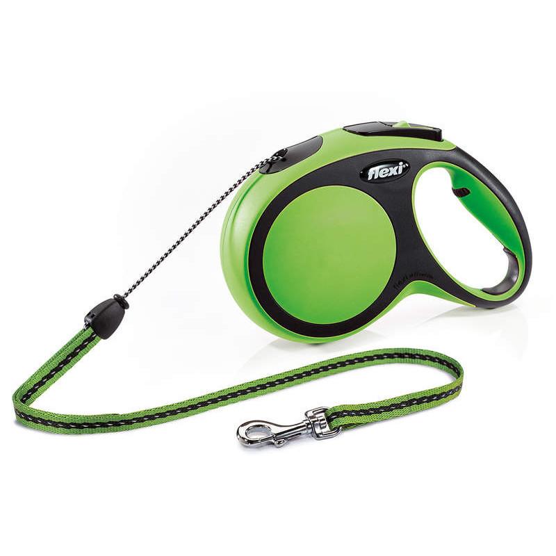 Flexi (Флекси) New Comfort Long М - Поводок-рулетка для собак средних пород, длинный трос (8 м, до 20 кг)