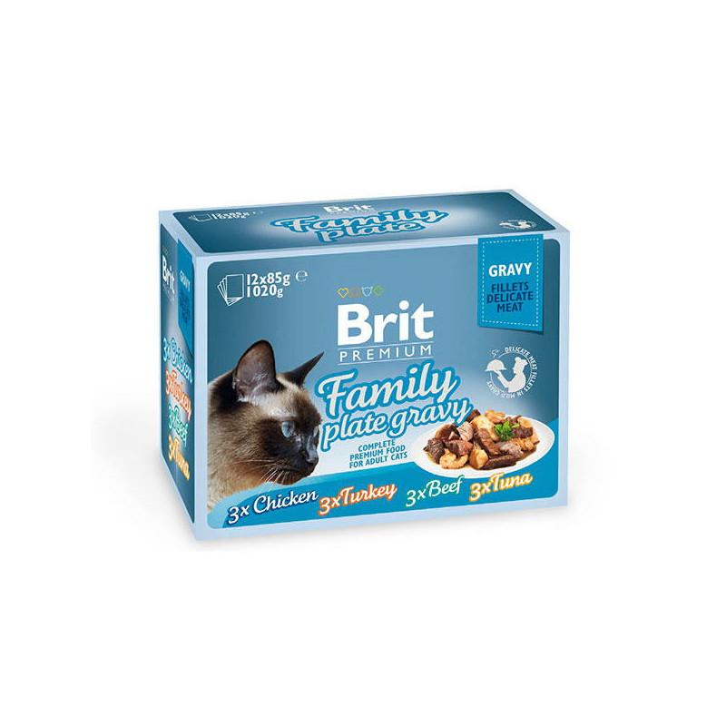 Brit Premium Brit Premium (Брит Премиум) Cat Family Plate Gravy - Набор паучей