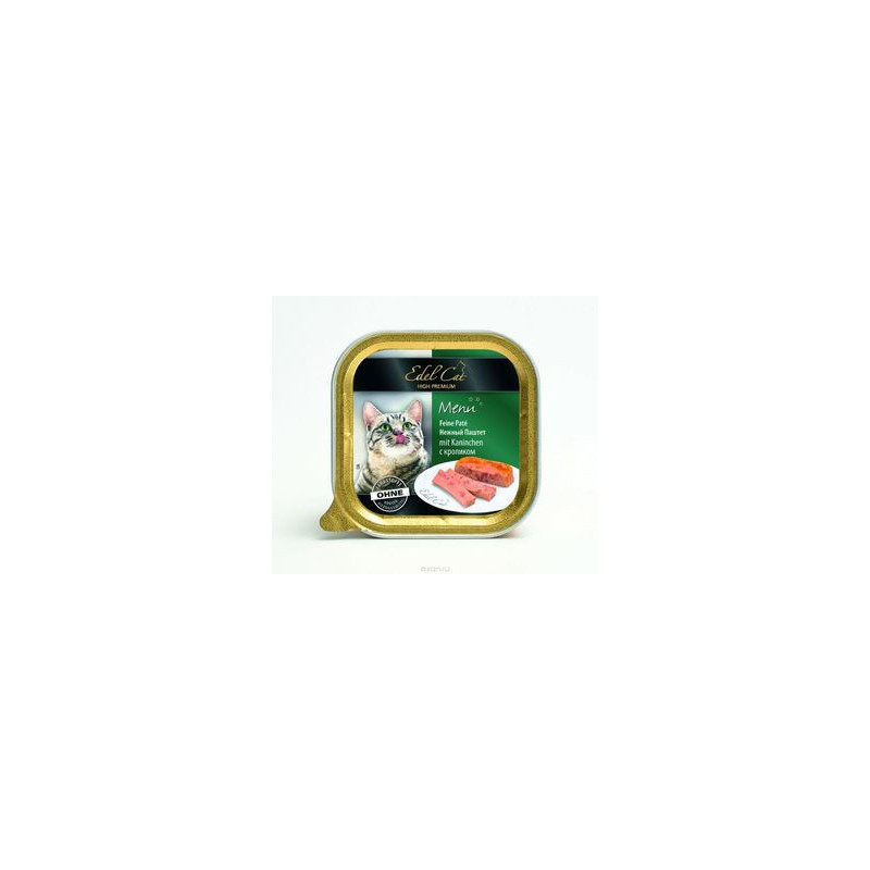 Паштет Edel (Едел) Cat для кошек с мясом зайца и печенью