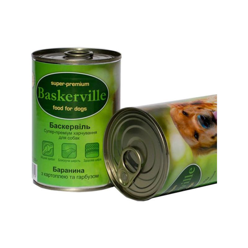 Консервы Baskerville с бараниной, картошкой и тыквой