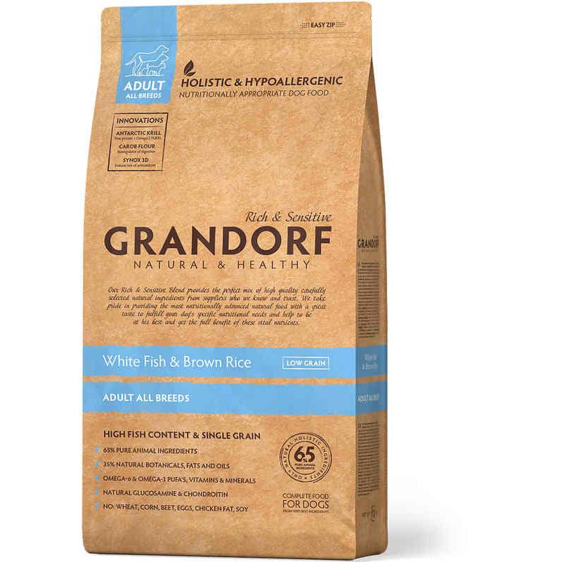 Grandorf (Грандорф) HolisticWhite Fish & Brown Rice All Breeds - для всех пород БЕЛАЯ РЫБА С РИСОМ