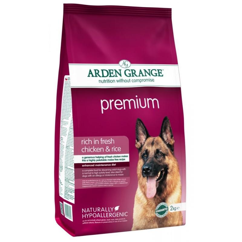 "Arden Grange (Арден Грандж) Adult Premium Rich in Fresh Chicken & Rice - Сухой корм для взрослых собак ""Премиум"" с курицей и рисом"