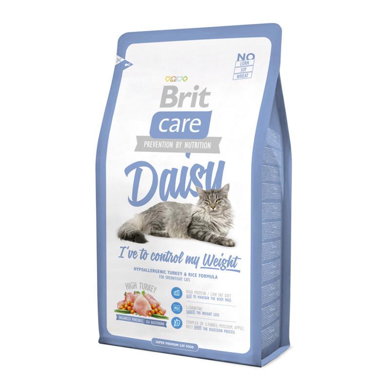 Brit Care (Брит Кеа) Cat Daisy - Сухой корм с индейкой и рисом для кошек с избыточным весом