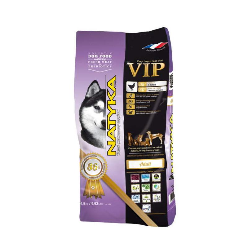 Natyka (Натика) Adult VIP Dogs - беззерновой полувлажный корм для взрослых собак с курицей