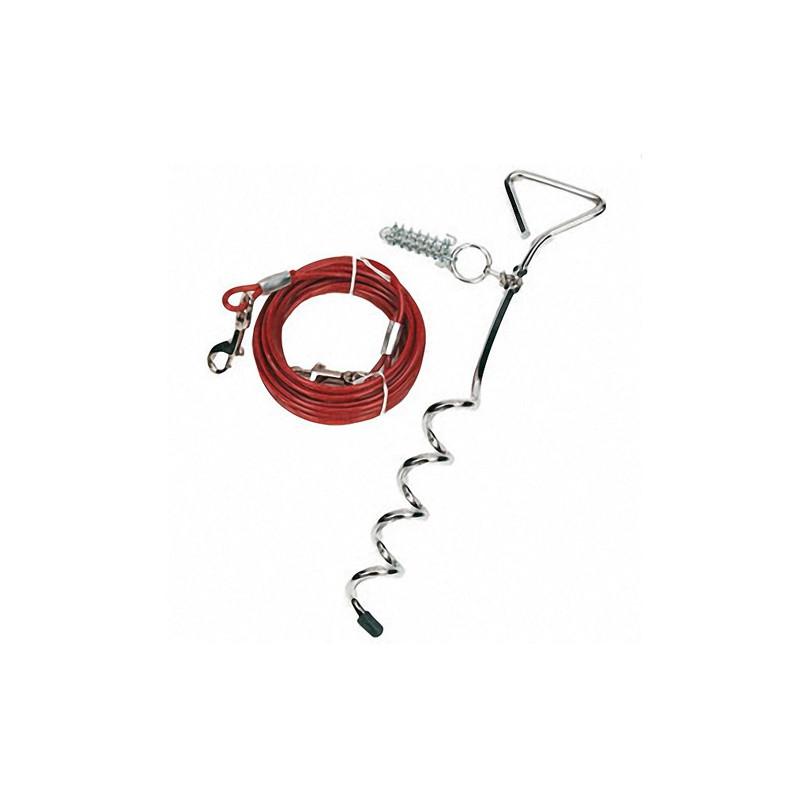 Karlie-Flamingo TIE OUT CABLE кабельный поводок с колом для собак
