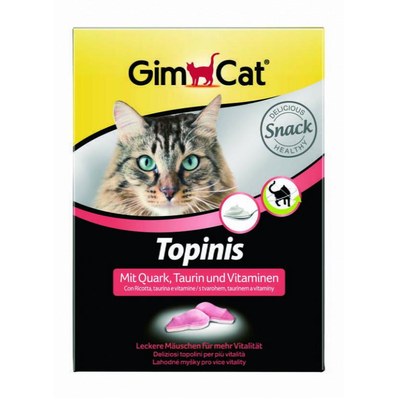 GimCat (джимКэт) Topinis - Витаминные мышки с сыром для улучшения пищеварения котов и кошек