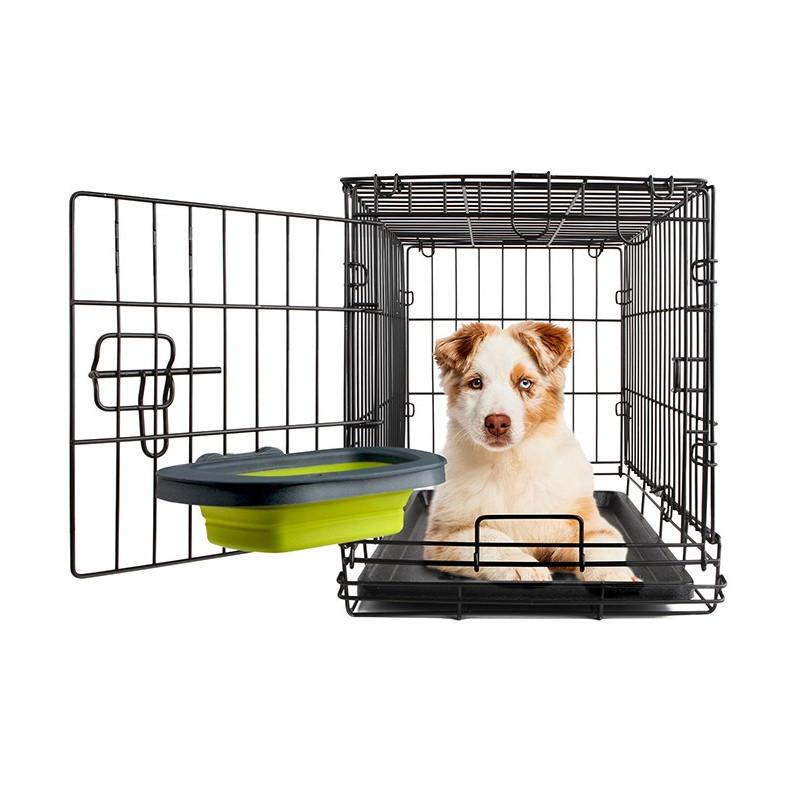 Collapsible Kennel Bowl миска складная с креплением для клетки для собак и кошек