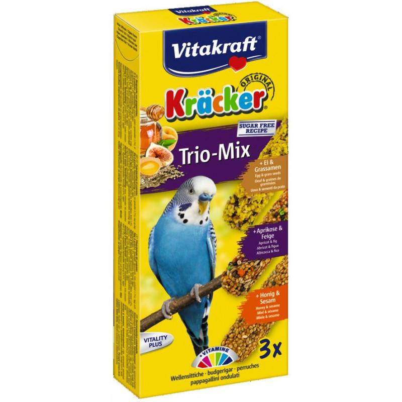 Крекер VITACRAFT TRIO MIX для волнистых попугаев с мёдом фруктами и яйцом