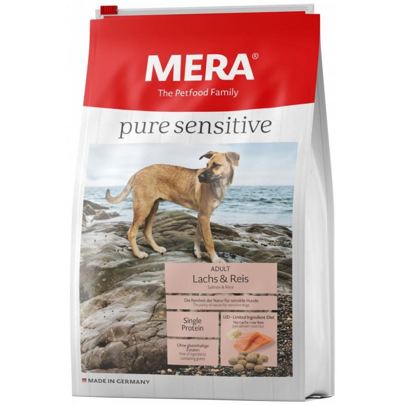Сухой корм Meradog Pure для взрослых собак-аллергиков с лососем и рисом