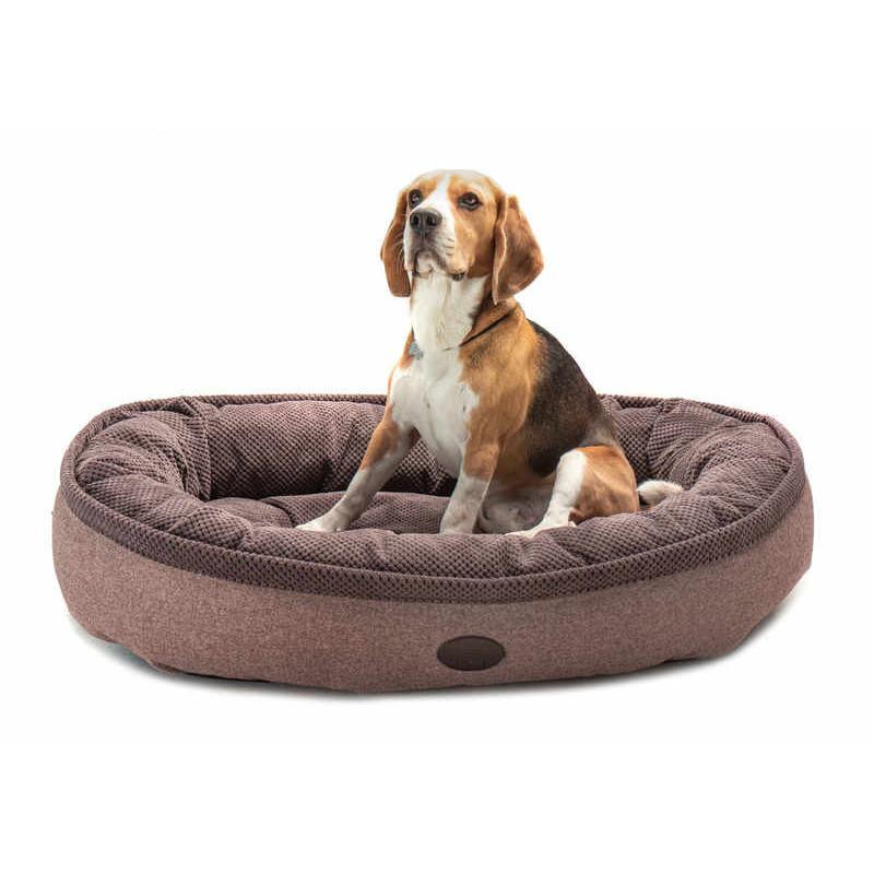 HARLEY & CHO  Donut Soft Touch Brown - Овальный лежак для собак (коричневый)