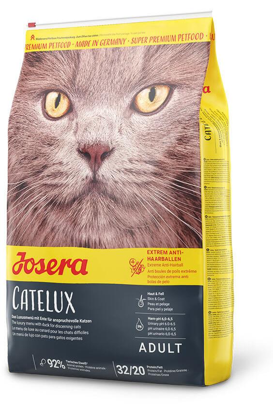 Josera (Йозера) Catelux. Сухой корм с птицей для котов со склонностью к образованию комков шерсти