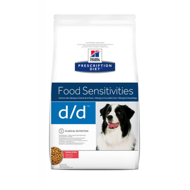 Hill's (Хиллс) Prescription Diet d/d Food Sensitivities - Корм-диета для собак с лососем и рисом ЧУВСТВИТЕЛЬНОЕ ПИЩЕВАРЕНИЕ