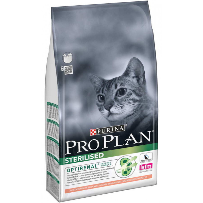 Purina Pro Plan (Пурина Про План) Sterilised Salmon - Сухой корм с лососем для стерилизованных котов