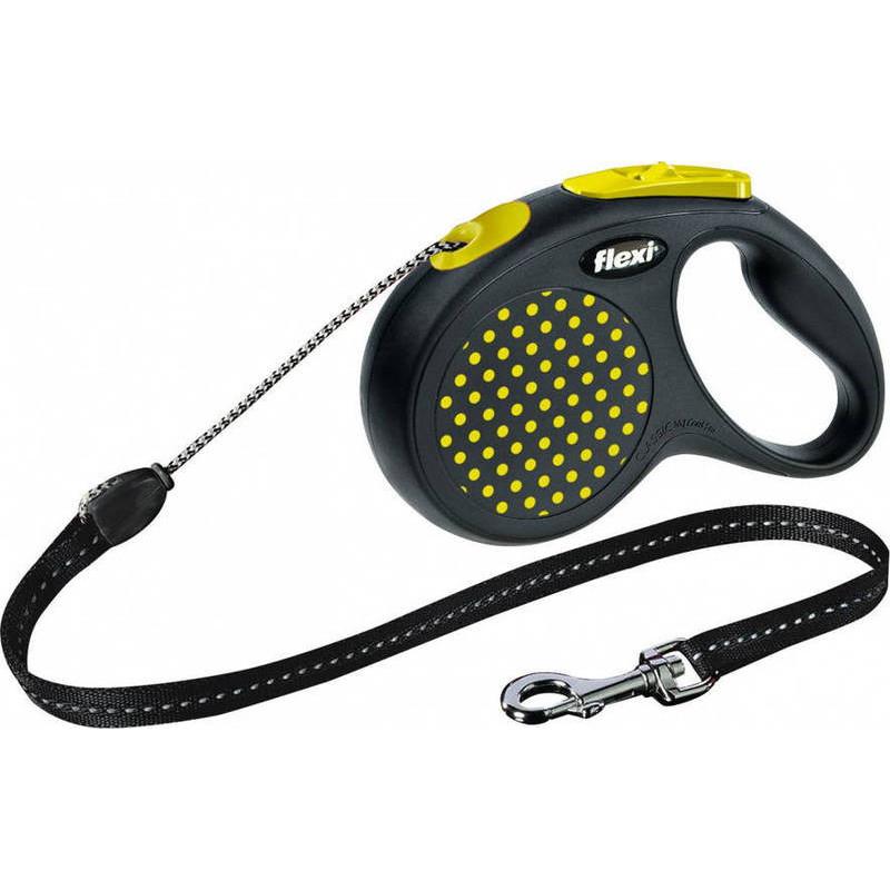 Flexi (Флекси) Design М - Поводок-рулетка для собак средних пород, трос  (5 м, до 20 кг)